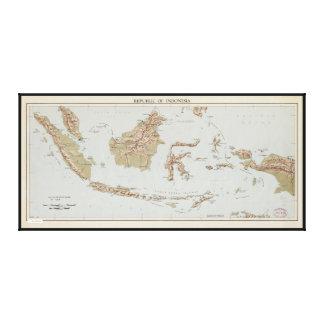 Lienzo República del mapa de Indonesia (1957)