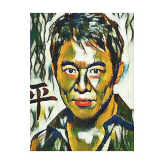 Lienzo Retrato de la lona del aceite de Jet Li