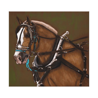 Lienzo Retrato del caballo de proyecto