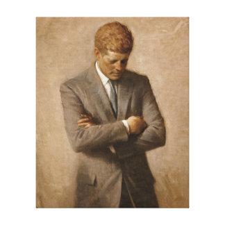 Lienzo Retrato del funcionario de John F. Kennedy