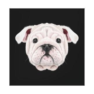 Lienzo Retrato ilustrado del perrito inglés del dogo