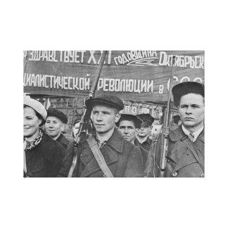 Lienzo Revolución de octubre
