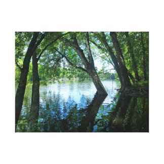 Lienzo Riverbank del St Joe, Indiana