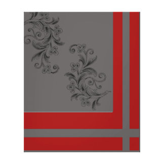 Lienzo Rojo gris de x