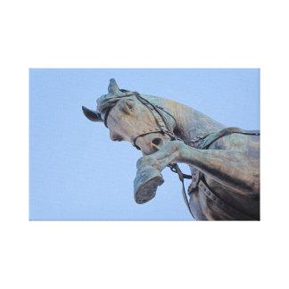 Lienzo Roma Italia - caballo de bronce