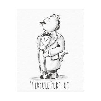 Lienzo Ronroneo-ot de Hercule, detective del gato