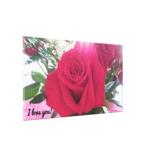 Lienzo Rosa rojo hermoso romántico