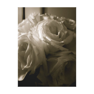 Lienzo Rosas blancos y negros