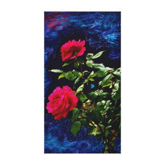 Lienzo Rosas oscuros