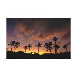 Lienzo Salida del sol de la hawaiana