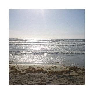 Lienzo Salida del sol de la playa
