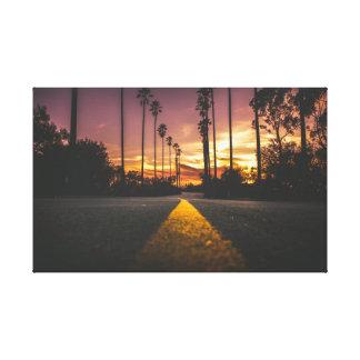 Lienzo Salida del sol de la puesta del sol el   del
