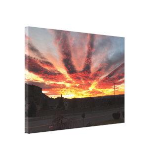 Lienzo Salida del sol increíble de Montana