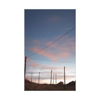 Lienzo salida del sol, puerto de la ensenada