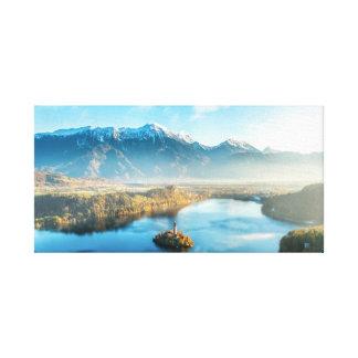 Lienzo Sangrado, lona del paisaje de Eslovenia