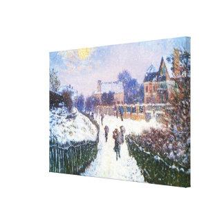 Lienzo Santo Denis Argenteuil del bulevar de Claude Monet