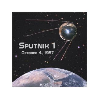 Lienzo Satélite de tierra de Sputnik 1