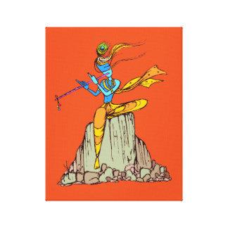 Lienzo Señor Krishna con la flauta