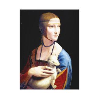 Lienzo Señora de Leonardo da Vinci con un armiño