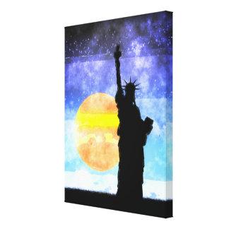 Lienzo Señora majestuosa Liberty