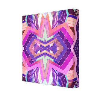 Lienzo Sensación geométrica del vintage púrpura rosado