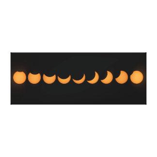 Lienzo Serie parcial del progreso del eclipse solar