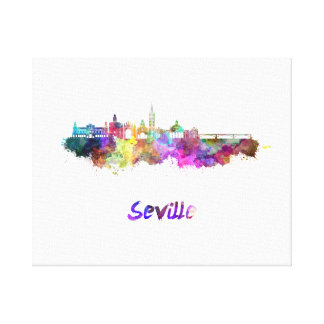 Lienzo Seville skyline in watercolor