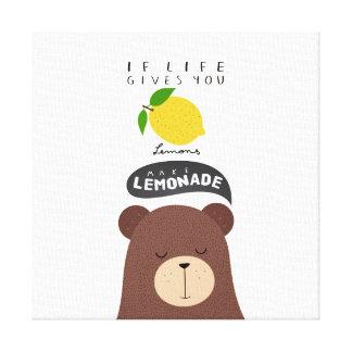 Lienzo Si la vida te da limones...