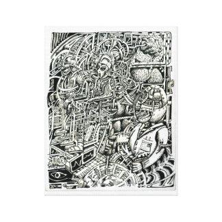 Lienzo Silla eléctrica, por Brian Benson