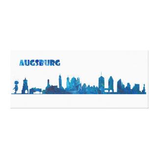 Lienzo Silueta del horizonte de Augsburg Alemania