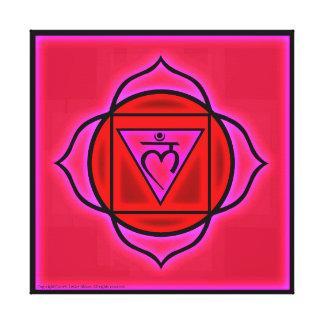 Lienzo Símbolo de Chakra de la raíz