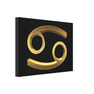 Lienzo Símbolo del oro del negro del cáncer de la muestra