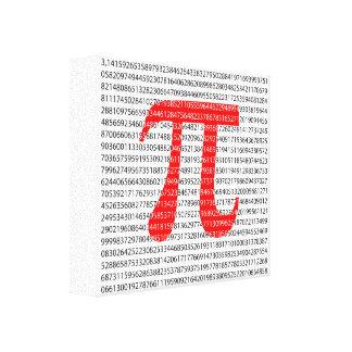 Lienzo Símbolo matemático del día rojo original del