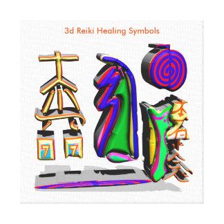 Lienzo símbolos curativos de 3d Reiki
