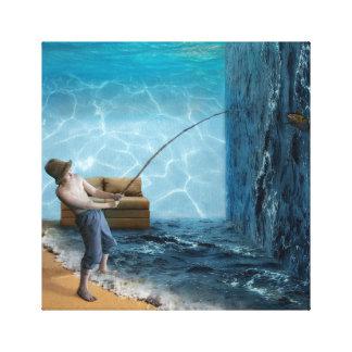 Lienzo Sitio de la pesca