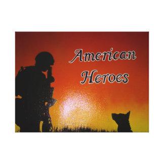 Lienzo Soldado americano