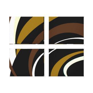 Lienzo Sombras del diseño de Brown