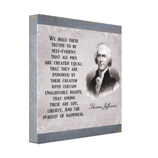 Lienzo Sostenemos estos trurths - Thomas Jefferson