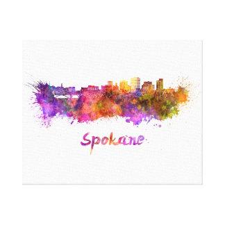 Lienzo Spokane skyline in watercolor