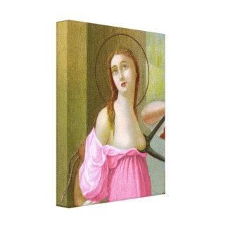Lienzo St. rosado Agatha (M 003)