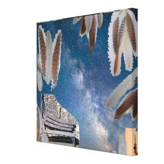 Lienzo Sueño del collage de la foto del banco
