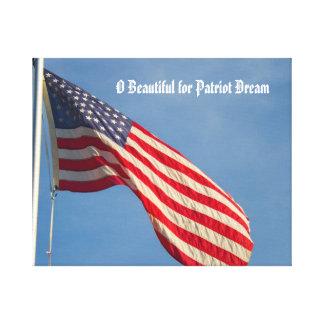 Lienzo Sueño del patriota de la bandera americana