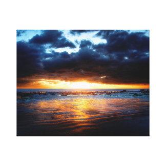 Lienzo Sun, mar y arena