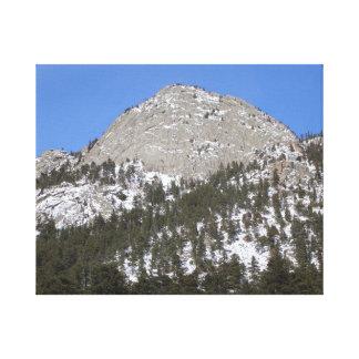 Lienzo Sun, montaña, foto de la nieve