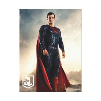 Lienzo Superhombre de la liga de justicia el | en campo