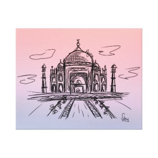 Lienzo Taj Mahal a color