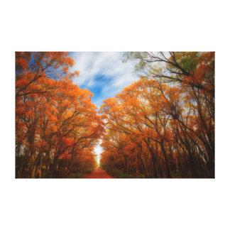 Lienzo Tarde del otoño