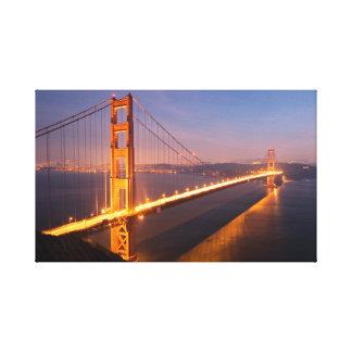 Lienzo Tarde en puente Golden Gate