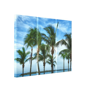 Lienzo Tarde tropical con las palmas