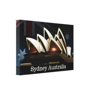 Lienzo Teatro de la ópera de Sydney en la noche